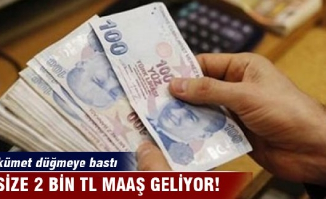 İşsize 2 bin lira!