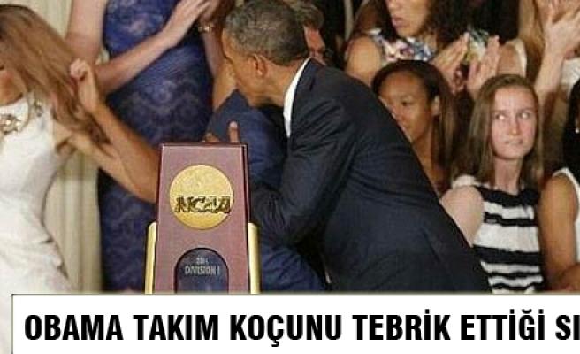 Kadın basket takımı Obama ile buluştu