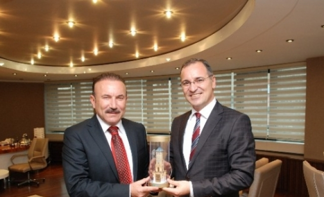 Kaymakam  Emiroğlu, Başkan Doğan'ı Ziyaret Etti