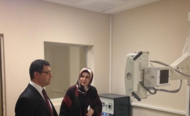 Kaymakam  Osman Doğramacı, Hastaneyi Denetledi