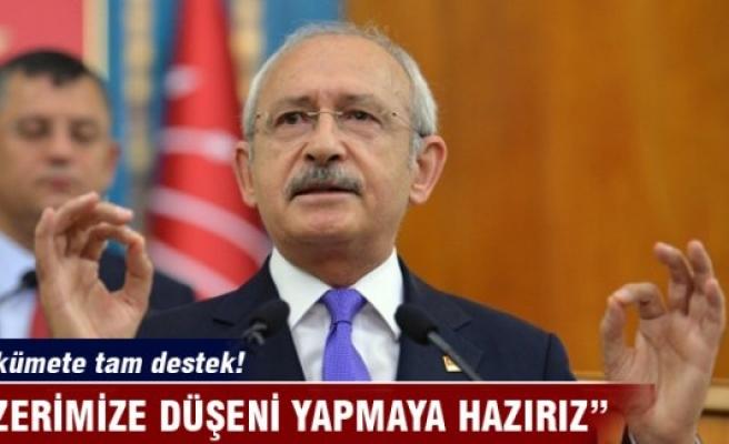 Kılıçdaroğlu: Üzerimize düşeni yapmaya hazırız