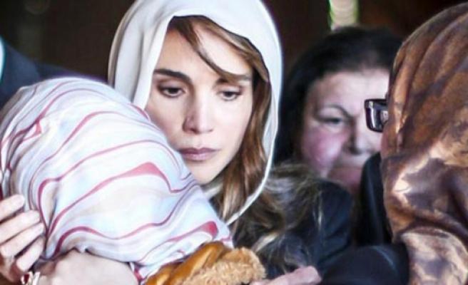 Kraliçe Rania'dan taziye ziyareti