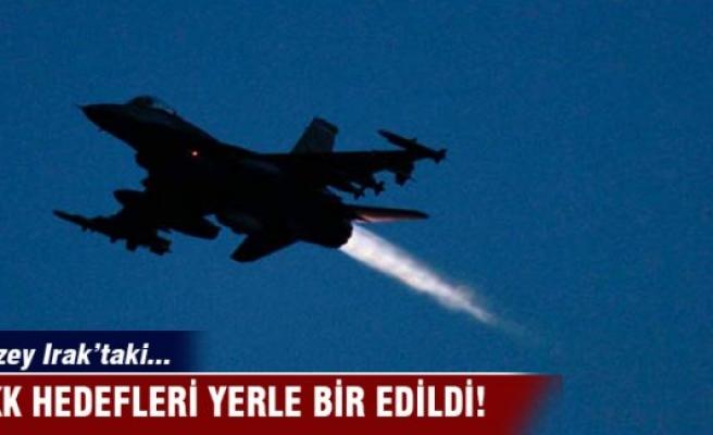 Kuzey Irak'taki PKK hedefleri yerle bir oldu!