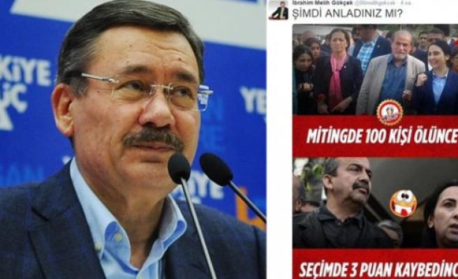 Melih Gökçek'ten HDP capsi