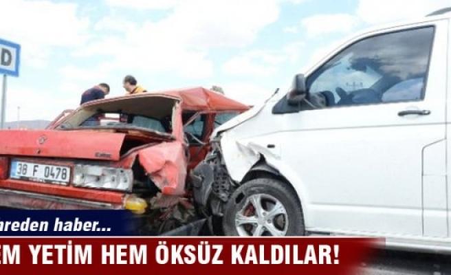 Minibüsle otomobil çarpıştı: 2 ölü, 3 yaralı