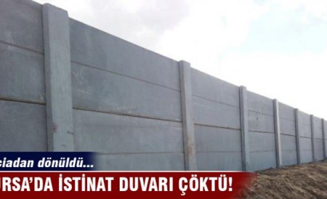 Mudanya'da istinat duvarı çöktü!