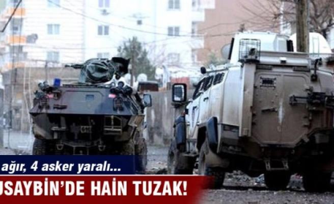 Nusaybin'de hain tuzak: 1'i ağır, 4 asker yaralı