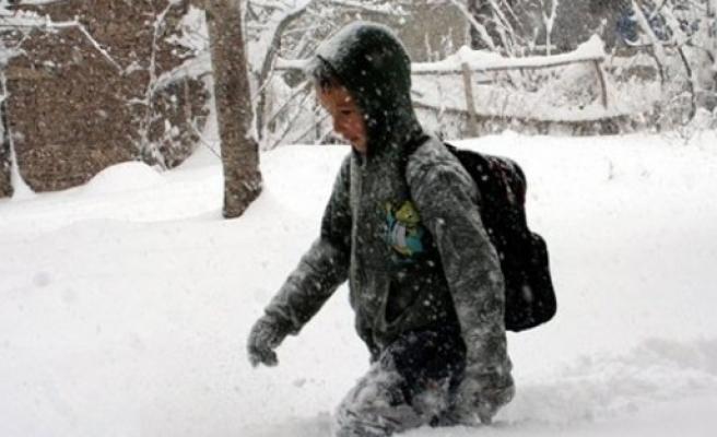 O ilde okullara kar tatili!