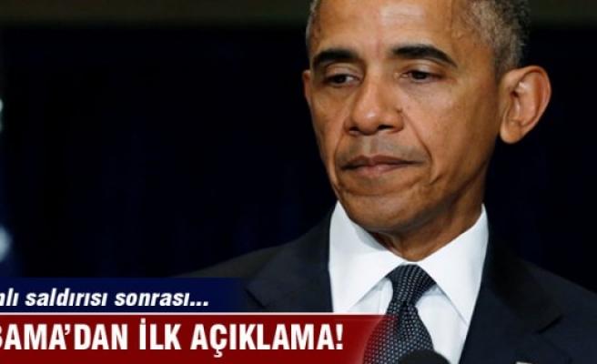 Obama'dan ilk açıklama