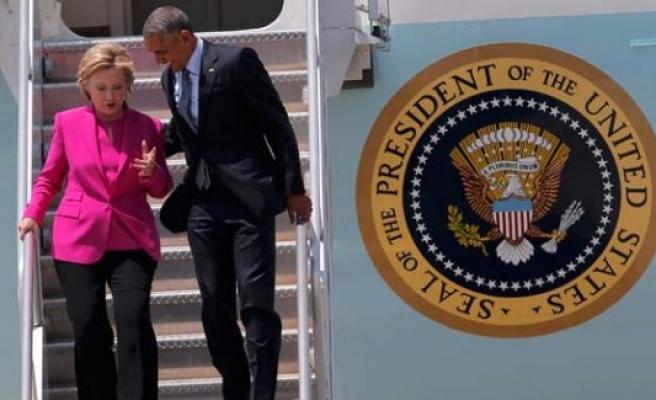 Obama mitinge gitti, parayı Hillary verdi