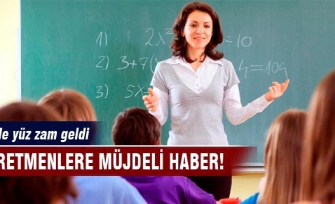 Öğretmenlere zam müjdesi!