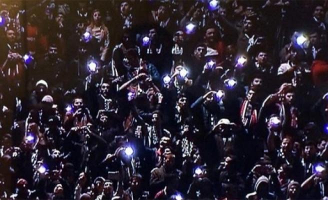 Olimpiyat Stadyumu karanlığa gömüldü