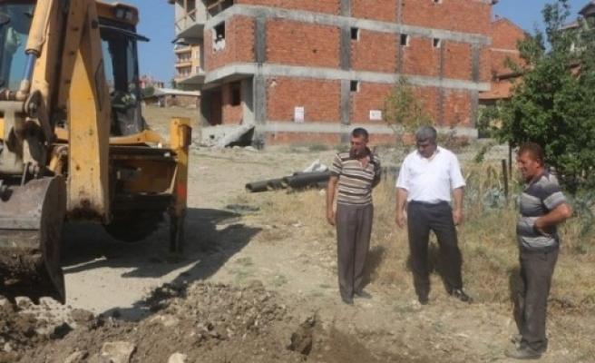 Osmanlı Sitesinde Kanalizasyon Çalişmasi