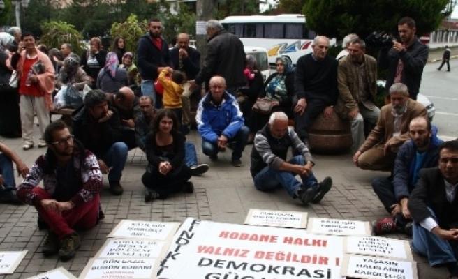 Rize'de Kobani'ye Destek Yürüyüşü