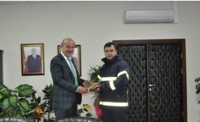 Söğüt Belediyesi'nin İlk İtfaiye Amiri Görevine Başladı