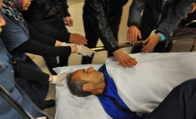Teknik adam hastaneye kaldırıldı