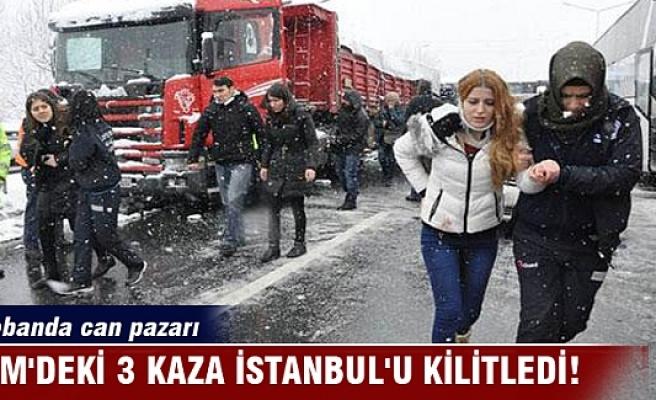 TEM'deki 3 kaza İstanbul'u kilitledi! Otobanda can pazarı yaşandı