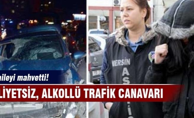 Trafik canavarı kadın bir aileyi mahvetti!