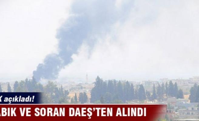 TSK açıkladı: Dabık ve Soran DEAŞ'tan alındı!