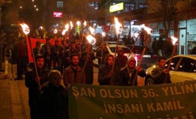 Tuceli'de PKK kutlaması