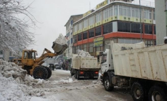 Tunceli Belediyesi Karla Mücadeleye Hazır