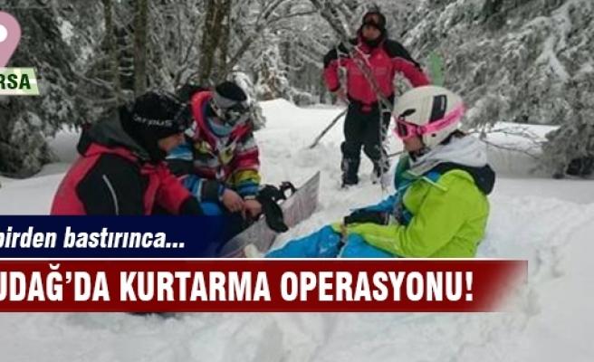 Uludağ'da kaybolan kayakçıları o tabela kurtardı