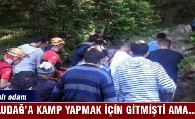 Yaşlı adam Uludağ'a kamp yapmaya gitmişti ama
