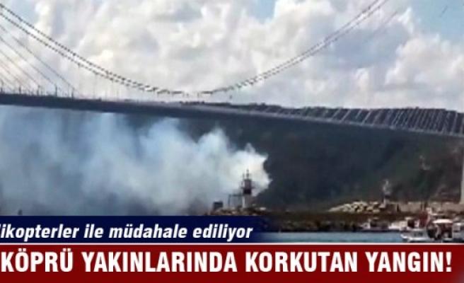 Yavuz Sultan Selim Köprüsü yakınında korkutan yangın!