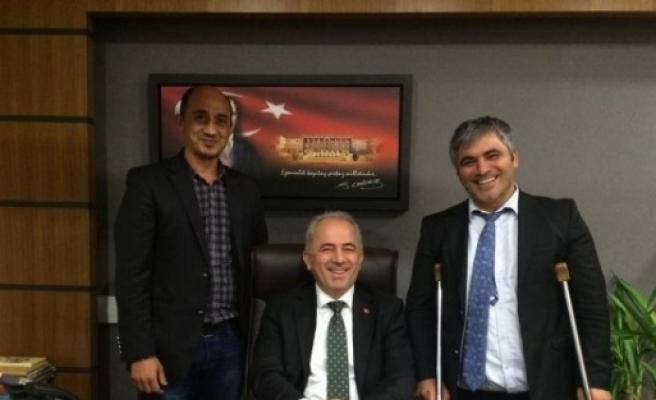 Yosk Başkanı Erkoç, Davutoğlu Ve Coşkun'la Görüştü