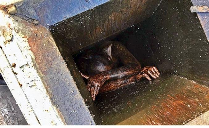 Aspiratör bacasına sıkıştı, 48 saat sonra kurtarıldı