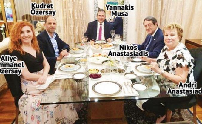Rum liderle yemek KKTC'yi karıştırdı