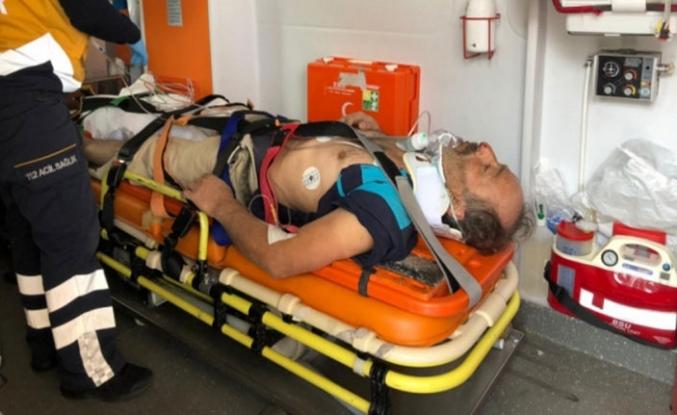 Bursa'da 12 metreden düşen inşaat işçisi ağır yaralandı!