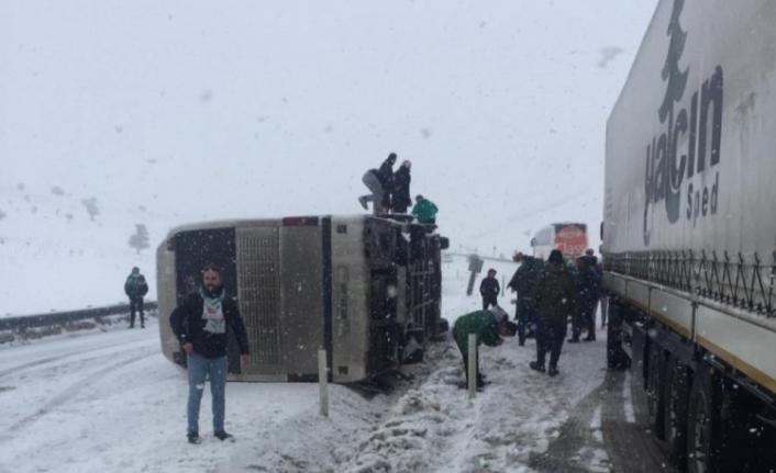 Bursaspor taraftarı kaza yaptı!