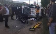 Bursa'da takla atan otomobilde can pazarı!