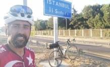 Bursa'dan başladı! Bisikletle Marmara Denizi'nin etrafını dolaştı