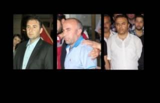 Eski polis müdürü Yakup Saygılı ve yardımcıları...