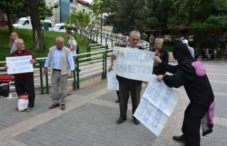 Bursa'da 'kadına şiddeti' protesto...