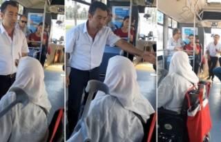 Antalya'da yaşlı teyze şoföre kızdı sosyal...