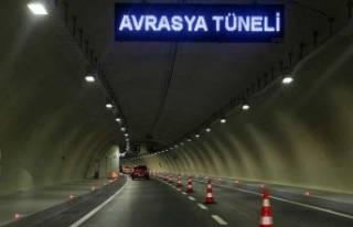 Avrasya Tüneli trafiğe kapatılacak