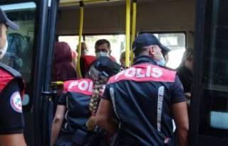 Bursa'da, dolmuşlara 'koronavirüs'...