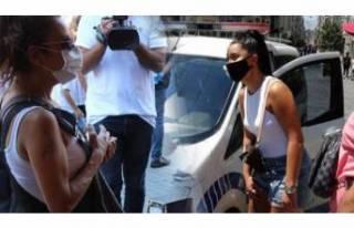 Maskesiz yakalanan kadın gazetecinin üzerine yürüdü!
