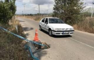 Bursa'da yoldaki rögar kapakları çalındı,...