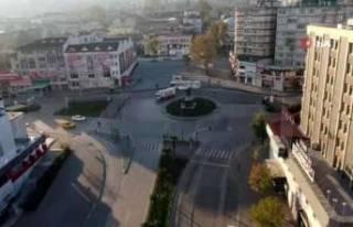 Sokağa çıkma kısıtlamasında Bursa'da sessizlik...