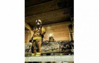 Bursa'da korkutan baca yangını