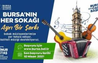 Bursa Büyükşehir Belediyesi'nden sokak müzisyenlerine...
