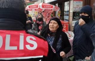 Bursa'da dilenci kadının tuvalet oyununu zabıta...