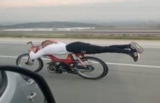 Bursa'da motosiklet sürücüsü otobanda ölüme...