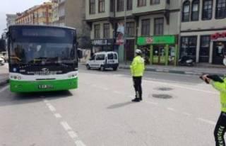Bursa'daki toplu taşımalara koronavirüs denetimi