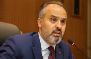 Bursa Büyükşehir Belediye Başkanı Alinur Aktaş'ın...