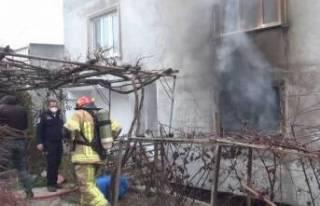 Bursa'da evde yangın paniği